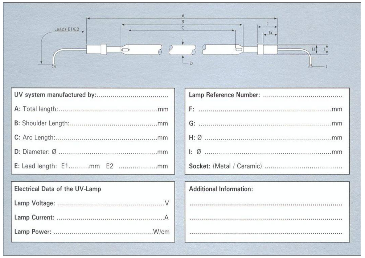 UV Lamps Diagram